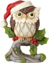 Jim Shore 6001498 Christmas Owl on Branch Mini Figurine