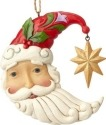 Jim Shore 6001503 Crescent Moon Santa Ornament