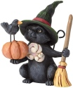 Jim Shore 6001551 Black Cat Witch Mini Figurine