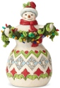 Jim Shore 6002642 Make The Season Bright Snowman With Lights