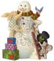 Jim Shore 6002728 Snowman With Woodland Animals