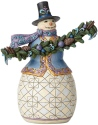 Jim Shore 6002732 Snowman Evergreen Garland Figurine