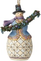 Jim Shore 6002735 Snowman Evergreen Garland Ornament