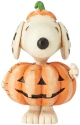 Jim Shore Peanuts 6002777N Mini Snoopy Pumpkin