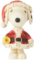 Jim Shore Peanuts 6002778N Mini Snoopy Santa