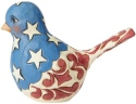 Jim Shore 6003978 Red White & Blue Bird Figurine