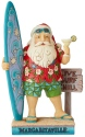Jim Shore Margaritaville 6004007 Santa With Surf Board