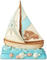 Jim Shore 6004025 Coastal Sailboat Pint Size Figurine