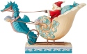 Jim Shore 6004028 Coastal Santa In Shell Sleigh Figurine