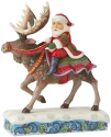 Jim Shore 6004133 Santa Riding Moose Figurine