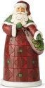 Jim Shore 6004139 Santa Satchel Figurine
