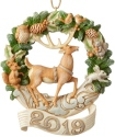 Jim Shore 6004175 2019 Dated Woodland Deer Ornament