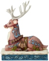 Jim Shore 6004180 Victorian Reindeer Laying Down Figurine