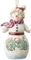 Jim Shore 6004194 Wonderland Snowman Ornament