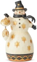 Jim Shore 6004199 Black & Gold Snowman Figurine