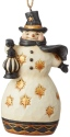 Jim Shore 6004204 Black & Gold Snowman Ornament