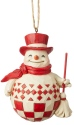 Jim Shore 6004232 Nordic Noel Snowman Ornament