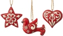 Jim Shore 6004233 Set of 3 Nordic Noel Ornament
