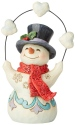 Jim Shore 6004288 Snowman Juggling Hearts Pint Size Figurine