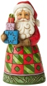 Jim Shore 6004290 Santa Presents Pint Size Figurine