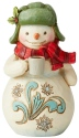 Jim Shore 6004294 Snowman Hot Cocoa Mini Figurine
