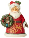Jim Shore 6004298 Santa Holding Wreath Mini Figurine