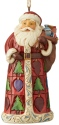 Jim Shore 6004302 Santa Wtih Toy Bag Ornament