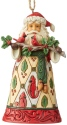Jim Shore 6004303 Santa Cardinals Ornament