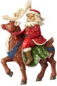 Jim Shore 6004305 Santa Riding Reindeer Ornament