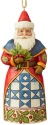 Jim Shore 6004306 Santa Wtih Holly Ornament