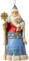 Jim Shore 6004308 Ukraine Santa Ornament
