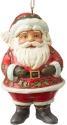 Jim Shore 6004310 Mini Jolly Santa Ornament