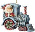 Jim Shore 6004311 Santa In Train Engine Ornament