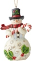 Jim Shore 6004312 Snowmwan Candy Cane Ornament