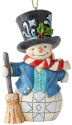 Jim Shore 6004313 Snowman Top Hat Ornament