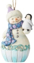 Jim Shore 6004314 Snowman Baby Penguin Ornament