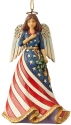 Jim Shore 6004317 Patriotic Angel Ornament
