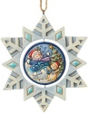 Jim Shore 6004320 Snowflake Snowman Ornament