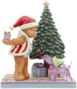 Jim Shore Button and Squeaky 6005120 Button Hiding Present Figurine