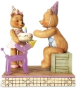 Jim Shore Button and Squeaky 6005124 Button Happy Birthday Figurine