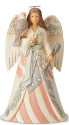 Jim Shore 6005256 Woodland Patriotic Angel Figurine