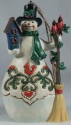 Jim Shore 6005313 Snowman With Cardinals & Birdhouse Ornament