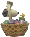 Peanuts by Jim Shore 6005945 Snoopy and Woodstock Easter Figurine