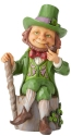 Jim Shore 6006223 Leprechaun With Shamrock Figurine