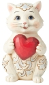 Jim Shore 6006225 Cat Holding Heart Figurine
