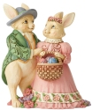 Jim Shore 6006232 Bunny Couple With Egg Figurine