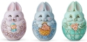 Jim Shore 6006519N Set of 3 Mini Bunny Easter Egg Figurines