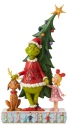 Jim Shore Grinch 6006567 Grinch-Max-Cindy By Tree Figurine