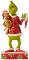 Jim Shore Grinch 6006570 Grinch Holding Max Figurine
