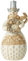 Jim Shore 6006613 Holiday Lustre Snowman Figurine